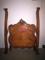 Szép formájú,antik barokk ágykeret!