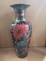 Különleges Zsolnay eozin kéttüzű napraforgós váza, igazi kuriózum, hibátlan, sosem használt