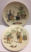 Sarreguemines jelenetes tányérok 2db