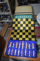 Keleti faragott csont sakk készlet
