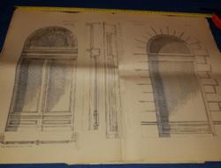 Balogh.Raffay:Épületasztalosság,1887.XVI.lap,70x50 cm,megtörve..21 db,természetesen együtt olcsóbb!