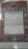 Országos Gárdonyi Géza Irodalmi Társaság-Díszoklevél 1927