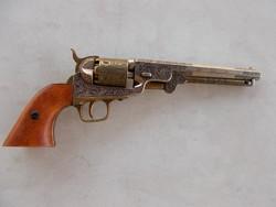 Revolver,diszes replika,fa-fém