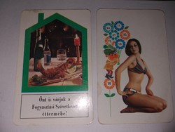 1971-es naptár 2 darab 400.-Ft