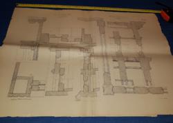 Balogh.Raffay:Épületasztalosság,1887.XXV.lap,70x50 cm,megtörve.21 db,természetesen együtt olcsóbb!