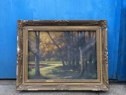 Szentmiklóssy festmény, erdő