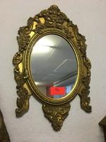 Antik barok fali tükör 74x47cm