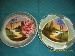 2 körmöcbányai szecessziós  tányér