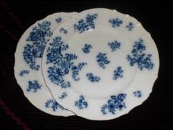 Antik porcelántányér. 2 db.