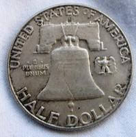 Amerikai Franklin ezüst fél dollár 1961 D.