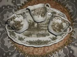 Porcelán teás, kapucsínós szett.