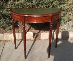 Gyönyörű Angol Mahagóni Fiókos konzol asztal!!!