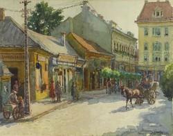 0O704 Sárossy Gyula : Utcarészlet 1929