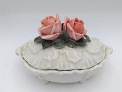 ENS Barokk stílusú, rózsás bonbonier