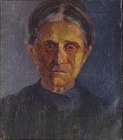 0Q289 Ismeretlen festő : Öregasszony portré