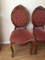 3 darab barok szék+ egy javitásra szorulo ajándék szék.