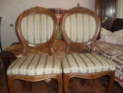Antik barok 2 darab szék