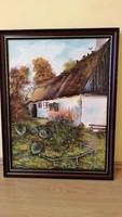 Tanya, udvar témában festmény eladó