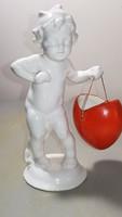 Bűbájos antik porcelán figura!