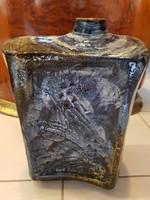 Zsolnay pirogránit nagyméretű modern váza