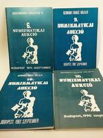 BÁV aukciósház numizmatikai  aukció katalógus 1980 -as évektől , összesen 4 darab füzet