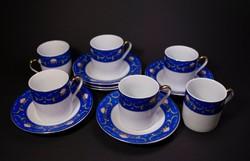 6 db-os porcelán kávés készlet
