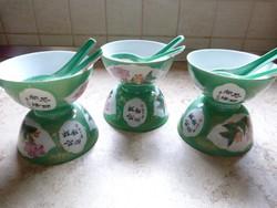 6 személyes jelzett kínai porcelán leveses készlet