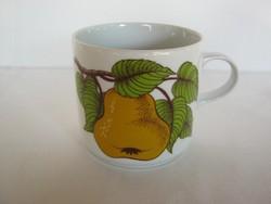 Alföldi porcelán gyümölcsös körtés bögre