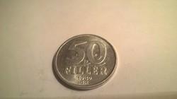 1989-es 50 Fillér .