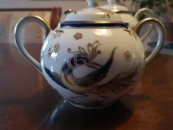 Csodaszép Zsolnay Főnix teás cukortartó fedővel hibátlan, új
