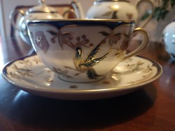 Gyönyörű Zsolnay Főnix teáscsésze+alj, hibátlan, új