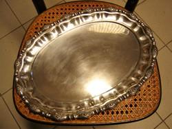 Gyönyörű antik nagyméretű ezüst tálca 43 x 31 cm / 1031 g.