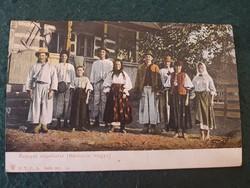 Rusnyák népviselet Máramaros megye régi színes képslap