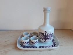 Alföldi porcelán butella szett