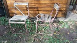 2 régi kerti vas szék felújítandó