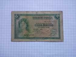 5 Peseta Spanyolország 1935 !!