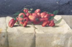 Molnár Z János:Epres csendélet-olajfestmény
