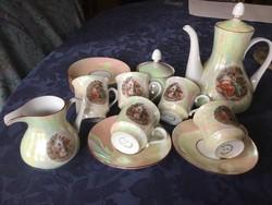 Weimar porcelán 5 személyes kávés