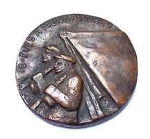 '15 éves a munkásőrség' bronz plakett.