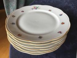 KPM lapos tányér, 23,5 cm-es, apró virágos