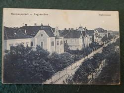 Nagyszeben ,Hallerwiese, Hermannstadt régi képeslap katonai bélyegzéssel