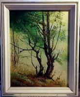 Impresszionizmus a természetben - ( jelzett, 74 x 61cm, olajfestmény )