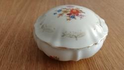 Csodaszép virágos porcelán tartó