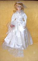 Menyasszony porcelánbaba, porcelán baba