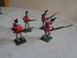 4 kézi festésű brit ólomkatona