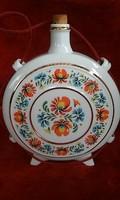 Eladó régi hollóházi porcelán kulacs