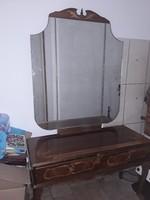 03. 31 én a fiókom megszűnik!.  Antik intarziás tükrös fésülködő szekrény