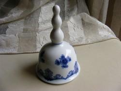 Wallendorf  kobaltkék porcelán harang csengettyű