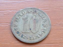 JUGOSZLÁVIA 10 PARA 1965