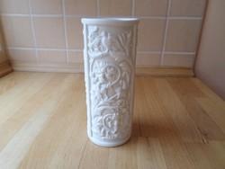 Gerold Tettau Bavaria biszkvit fehér porcelán váza